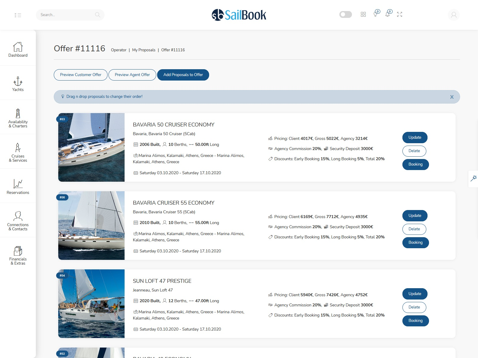 SailBook Proposals